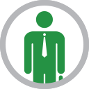 graphic - person wearing a tie