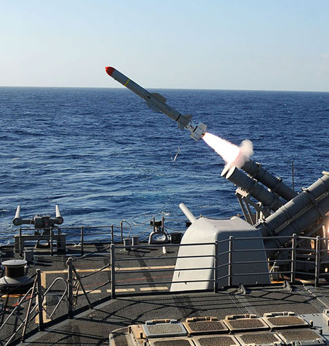 U.S. Harpoon anti-ship cruise missile (ASCM)