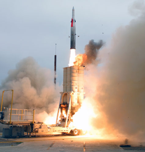 July 2004 test of the Arrow anti-ballistic missile defense system
