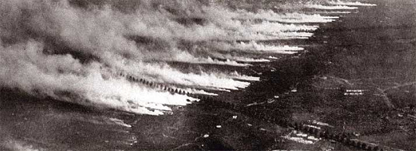 Gas Attack as Seen from an Airplane Source: WikiMedia Commons